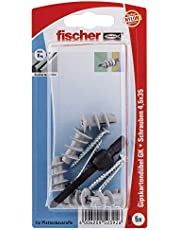 Fischer 052392 GKS K SB-kaart, inhoud gipskartonplug GK, 5 x spaanplaatschroef 4,5 x 35, 1 x zetgereedschap