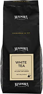 Madura White Tea 40 Leaf Infusers in Refill Pouch, 1 x 80 g