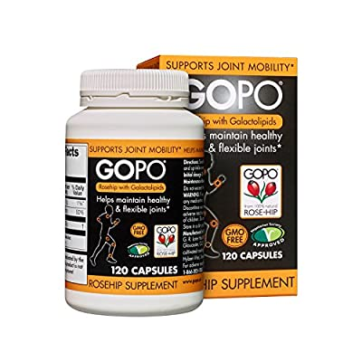 Gopo Rose Hip Joint Health Vitamin C Capsules - Pack of 120 by G R Lane Health Products Ltd