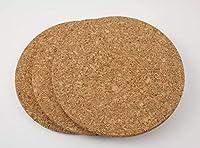 ikea - set di 3 sottopentola in sughero heat, diametro 19 cm