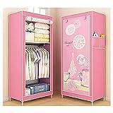 Armarios Portátiles Ropa portátil Ropa de vestuario Organizador de almacenamiento Cubierta de tela con cremallera con...
