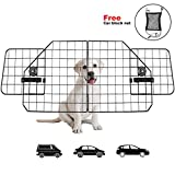 Urban Deco Dog Car BarriersHeavy Duty Adjustable Wire Pet Cars Barrier with Front Seat Mesh in BlackSafety Travel Dividers Fence for Vehicles, SUV, Cars.