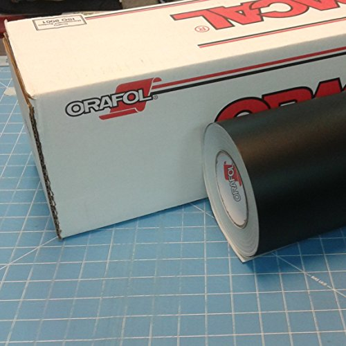 24' x 10 Ft Roll of Oracal 651 Matte Black Vinyl for Craft Cutters and Vinyl Sign Cutters