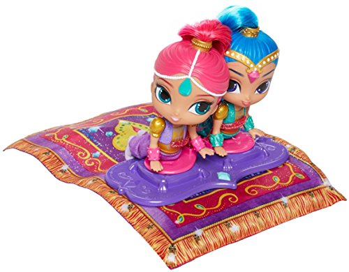 Shimmer and Shine DGL84 Magic Flying Carpet Elektronische Puppe Spielset - Fisher Price Nickelodeon Spielzeug