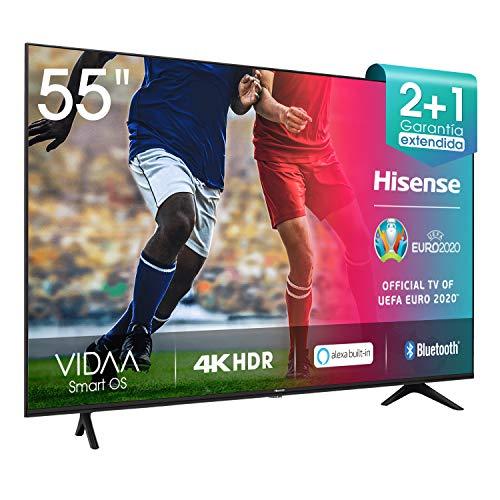Hisense UHD TV 2020 55AE7000F - Smart TV Resolución 4K con Alexa integrada, Precision Colour, escalado UHD con IA, Ultra Dimming, audio DTS Studio Sound, Vidaa U 4.0 Clase de eficiencia energética A+