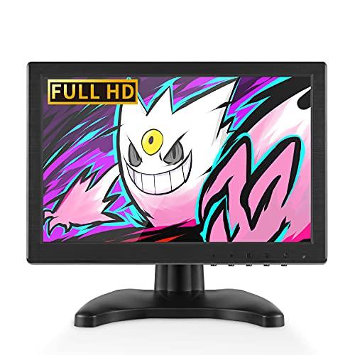 HDMI Monitor 10,1 pollici 1920x1200 Display secondo schermo LCD CCTV Monitor con altoparlante incorporato, USB/HDMI/VGA/AV/BNC per PC Computer Laptop Gaming Raspberry Pi PS3/4