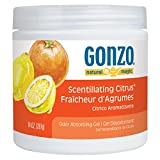 Gonzo Natural Magic Air Purifying Gel, Odor Eliminator for Cars, Closets, Bathrooms and Pet Areas, Captures and Absorbs Ordors - 14 Ounce - 12 Pack - Scentillating Citrus