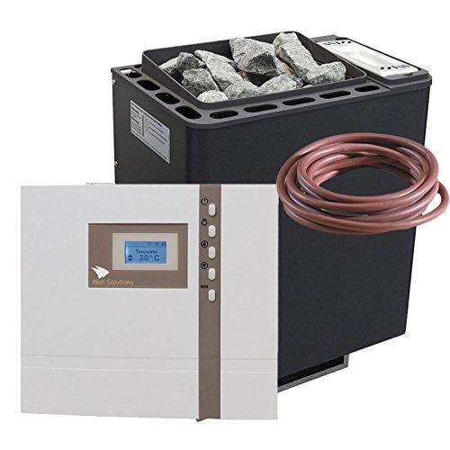 Well Solutions ® Saunaofen Set Bi-O Thermat 9 kW by EOS Saunasteuerung Econ H1 Bi-o Combi Feuchte Sauna