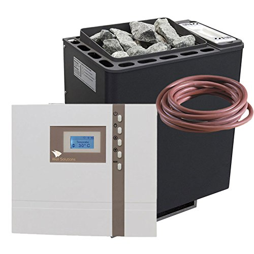 Well Solutions  Saunaofen Set Bi-O Thermat 9 kW by EOS Saunasteuerung Econ H1 Bi-o Combi Feuchte...