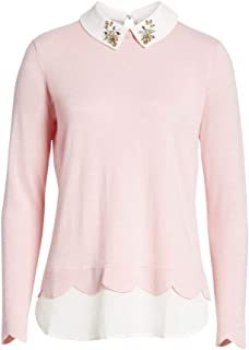 Ted Baker Suzaine Embellished Layered Sweater in Baby Pink