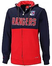 Reebok New York Rangers Face Off Rits Hoodie NHL Sweatshirt