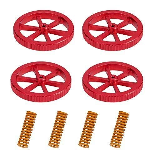 no-branded 3d Printer Accessories 4PCS Aluminum Hand Twist Leveling Nut With 4PCS Hot Bed Die Springs For E/nder 3/Pro Ender 5/Plus/Pro CR-10 CGFEUR