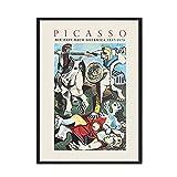 Decoración del hogar, póster de estilo Retro, impresión artística de pared, pintura de Picasso, cuadro artístico familiar, pintura en lienzo sin marco A5 30x40cm