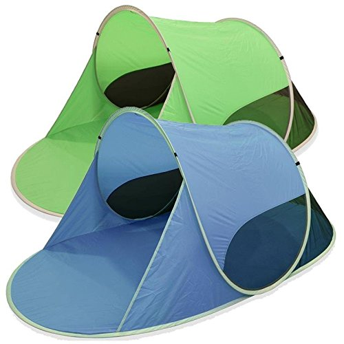Outent® Pop Up Wurfzelt Strandmuschel Strandzelt Sunray II grün - 245 x 145 x 100 cm - UV-Schutz: 50+