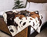 Treat A Dog PupProtector Waterproof Dog Blanket - Soft Plush Throw Protects Bed, Couch, or Car from Spills, Stains, Scratching, or Pet Fur - Machine Washable (Brown Faux Cowhide)