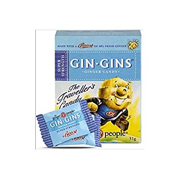Ginger People Gin Gins Super Strength Ginger Candy 31g  Pack of 2