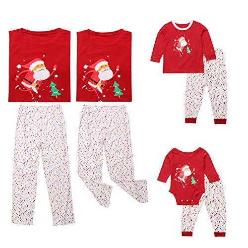 BESBOMIG Baby Rompers Infants Toddler Christmas Outfits Unisex Cute Deer Snowman Pyjamas Sleepwear Autumn Winter Clothes Jumpsuit+Hat 2Pcs Set