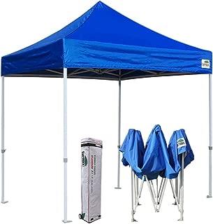 Eurmax 8x8 Feet Ez Pop up Canopy, Outdoor Canopies Instant Party Tent, Commercial Gazebo Bonus Roller Bag (Blue)