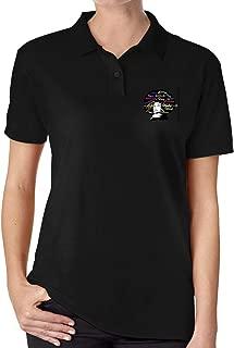 JJHH Shop Vinyl Transfer Afro Lady Women's Girls Office Golf Polo Shirt