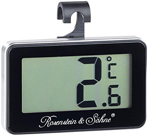 Rosenstein & Söhne Tiefkühlthermometer: Digitales Gefrier- & Kühlschrankthermometer (Gefrierschrankthermometer)