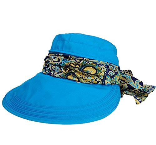 Kuyou Sommer Strand Hat Damen Outdoor Sport Hut Anti-UV Sonnenhut (Königsblau)