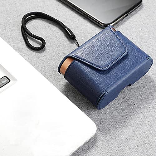 linqingshiduodeshangmaoyouxiangongsi ist Präfekt für Streaming/Podcasting/Gaming Tragbarer langlebiger magnetischer Kopfhörer-Aufbewahrungs-Case-Tasche Bluetooth-Kopfhörer (Color : Blue)