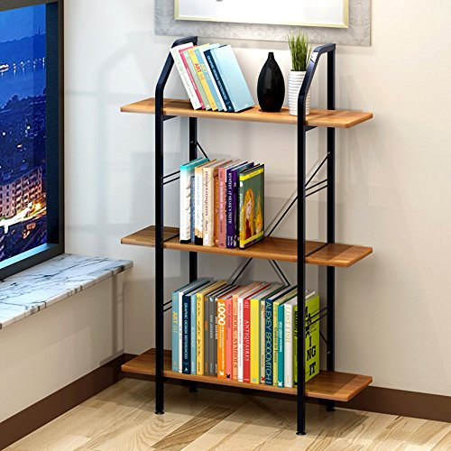 Rekken DUO Rekken 3 Tier Houten Rek Leaning Ladder Shelf Unit Boekenkast Display Stock (3 Tiers, Zwart) Rekken