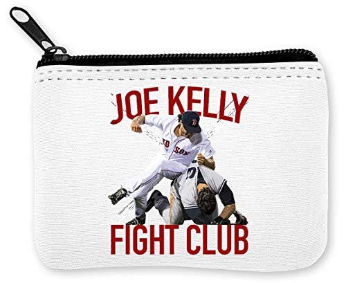 Boston Baseball Red Joe Kelly Fight Club Fan T-hi munten ritssluiting portemonnee