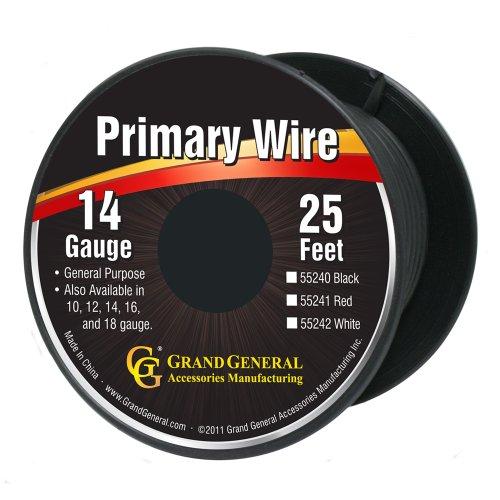 Grand General 55240 Black 14-Gauge Primary Wire