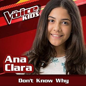 Don't Know Why (Ao Vivo / The Voice Brasil Kids 2017)