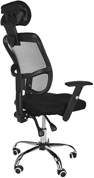Office Computer Desk Chairs Inkach Rolling Hydraulic Height Adjustment Mesh Backrest Chair High Back Ergonomic Student Reading Task Work Chair Black