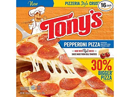 Tonys Pizzeria Style Pizza Pepperoni, 18.56 Ounce -- 16 per case.