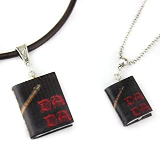 Defense Against the Dark Arts School of Magic Clay Mini Book Bead Pendant Necklace Cord Chain Unisex
