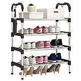 シューズラック4段靴棚 15足靴収納可 軽量 収納 省スペース 玄関収納組立簡単