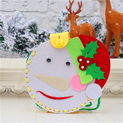 jieGorge Christmas children DIY educational toys shoulder bag gift bag candy material bag, Education, for Christmas Day (B)