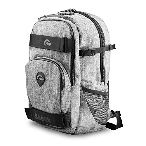 Skunk Nomad Skaters Backpack - Smell Proof - Water Proof - With Combination Lock (Gray)