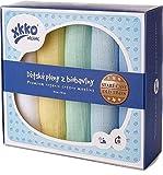 Xkko mullwindeln muselina 70 x 70 cm Bio-algodón 5er-Set Pastels Boy
