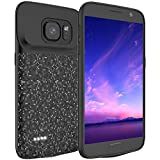 LOYTAL Battery Case for Samsung Galaxy S7, 4700mAh Rechargeable Extended Battery Charging Case, External Battery Charger Case, Backup Power Bank Case (New 5.1 inch Black)