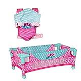 Bebés Llorones - Pack de complementos Cuna y Portabebé; ideal para jugar con los muñecos Bebés Llorones