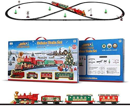 NLRHH Juego de Tren de Navidad, eléctricos del Tren del Juguete con...