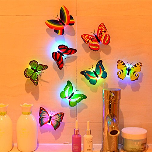 Removable Wall Sticker Clearance Sale, Libermall 1 Pcs Wall Stickers Butterfly LED Lights Wall Stickers 3D House Decoration, Best for Art Home Decors Kids Room Unique Design