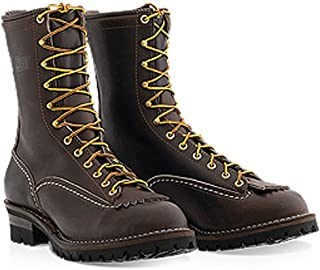 Wesco 'Jobmaster' ST208100 Men's Work Boots Brown Leather #100 Vibram Sole 8″ Height