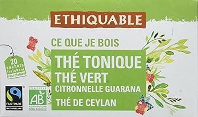 Ethiquable Thé Tonique Guarana Ceylan Bio et Équitable 20 Sachets Max Havelaar parent