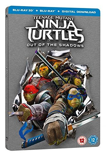 Teenage Mutant Ninja Turtles 2 Out Of The Shadows 3D + Digital Download 2016-UK Exclusive Limited Edition Steelbook Limited Blu-ray Region free