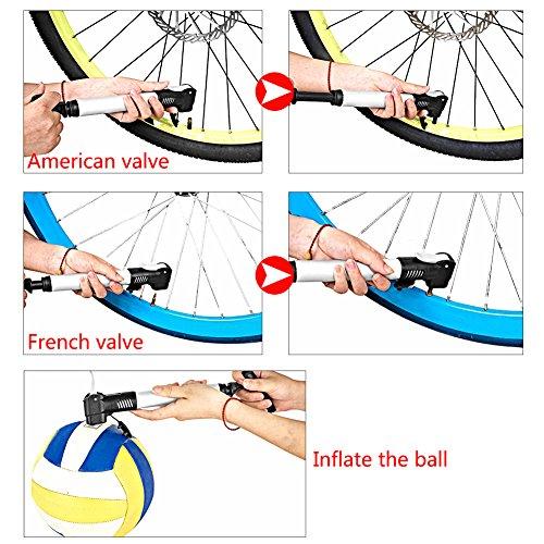 Mini Fahrradpumpe, Mini Bike Pumpe, Tragbare Fahrradpumpe, Tragbar, Kompakt, Langlebig, Schnell Und Einfach Zu Bedienen, Halterung für MTB/BMX/Rennrad/Mountainbike - 7