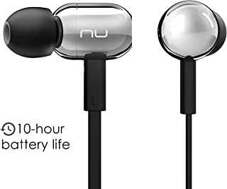 NuForce BE Live2 Affordable Wireless Earbuds with Microphone, Gym Headphones, 10h Battery, AAC Support for iPhone and Android, Sweat Proof IPX5, Noise Isolating Design, Metal housing (Silver)