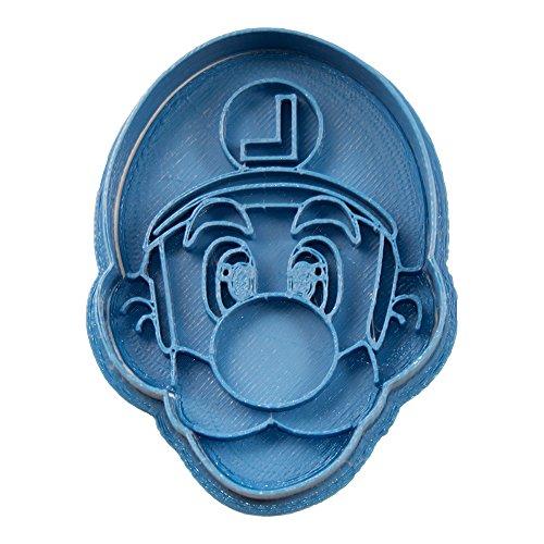 Cuticuter Luigi Mario Bros Cortador de Galletas, Azul, 8x7x1.5 cm