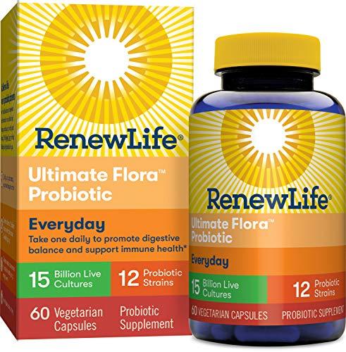 Renew Life Adult Probiotic - Ultimate Flora Everyday Probiotic, Shelf Stable Probiotic...