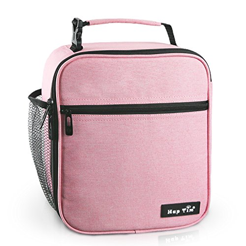 Hap Tim Insulated Lunch Bag for Women,Reusable Lunch Box for Girls,Spacious Lunchbox Adult Cooler Bag Pink (18654-PK)