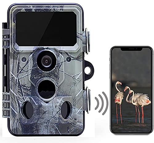 Wildkamera 24MP WLAN Bluetooth Wildkamera mit850nm Infrarot LEDs 120° Outdoor Wildtierüberwachung Nachtsicht Wildkamera mit.